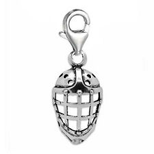 Clip-on Hockey Helmet Charm for European Charm Jewelry w/ Lobster Clasp