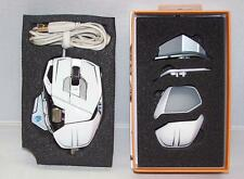 Mad Catz Cyborg MMO M.M.O. 7 Laser Gaming Mouse 6400 dpi for PC Mac GLOSS WHITE
