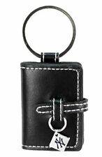NEW YORK YANKEES BLACK LEATHER PHOTO ALBUM KEY CHAIN NEW & OFFICIALLY LICENSED