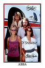 ABBA SIGNED AUTOGRAPH LARGE PRINT POSTER - GREAT PIECE OF MEMORABILIA