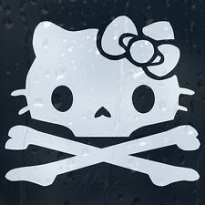Hello Kitty Skull Car Window Windscreen Body Panel Laptop Decal Vinyl Sticker