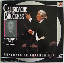 Sergiu CELIBIDACHE Anton BRUCKNER  Symphonie No.6  Munich Philharmonic Laserdisc