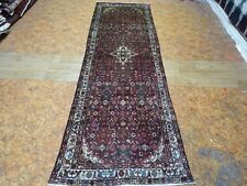 """C 1930 Antique Persian Hosseinabad Exquisite Hand Made Rug 3' 1"""" x 9'"""