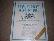 "HOW TO HOST A MURDER MYSTERY Party Game ""The Chicago Caper"" (Cassette) NEW"