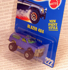 CHEVY BLAZER 4x4 BLUE W OPENING DOORS #222 BLUE CARD HOT WHEELS