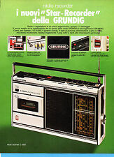 (AM) EPOCA975-PUBBLICITA'/ADVERTISING-1975-GRUNDIG - RADIO RECORDER C 4500