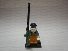 LEGO 8803 Minifigure Series 3 FISHERMAN & FISH Fishing Pole Line Old Man Minifig