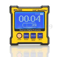 DXL360 Digital Protractor Inclinometer Level Box Dual Meter Axis Angle Sensor