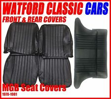 MGB GT Front and Rear Seat Covers 1972 -1981 All Black