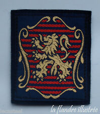 ancien écusson lion des flandres - 7 cm par 6 cm - collection - carnaval