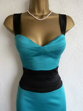 Jane Norman green & black pencil dress size 10 8
