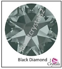 BLACK DIAMOND 144 pieces 9ss 2.5mm Swarovski Crystal Flatback Rhinestones 2058