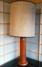 TEAK VINTAGE MID CENTURY MODERN DESK & TABLE LAMP DANISH MODERN RETRO BULLET