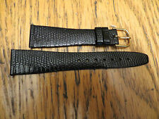 New Old Stock HIRSCH Genuine Lizard Black Watch Band Made in Austria 20MM LeJour