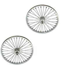 "20"" TWISTED Wheel Set Lowrider 144 Spoke Rear Coaster Bicycle Cruiser Bike"