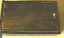 Vintage~PRESSMAN~TOURNAMENT DOMINOES~Double Sixes~Stamped Wooden Box