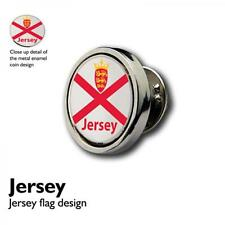 Jersey Flag Lapel Pin Badge St Helier Boy Channel Island Present GIFT BOX