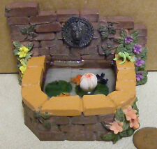 1:12 Ladrillo Estanque + 3 Pescados & Rana Casa de muñecas en miniatura Accesorio de jardín