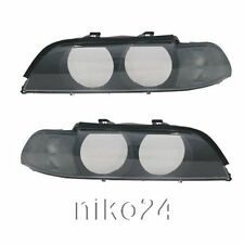 Scheinwerfer Glas klar Blinker schwarz auch Xenon BMW E39 5er 95-00 Set