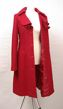 P1031/43 V.O.K Australia Women's Red Woolen Fitted Coat, UK12/14 Tall