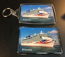 P&O Cruises BRITANNIA Photo Key Ring & Fridge Magnet Set Cruise Ship Ocean Liner