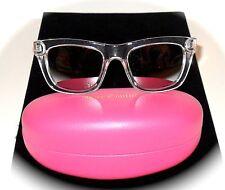 JUICY COUTURE Black & Clear Silver Flash Lens Wayfarer Style Sunglasses JU302