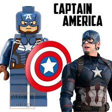 1pc Captain America Minifigures Building Blocks Toy Avengers Custom Lego #259