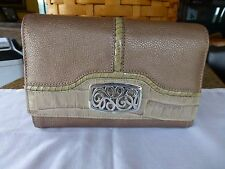BRIGHTON NWT LEATHER ORGANIZER WALLET WITH CHECK BOOK FEATURE