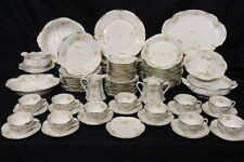 Service for 12, 89 Pc Set Warwick China OLD ABBEY Flowers A2003 & Serving Dishes
