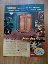 1953 Philco TV Television Ad  1952 Gillette Ad Tom Fears Los Angeles Rams