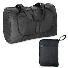 Large Folding Black Sports Gym Holdall Bag Work Duffel Travel School Weekend