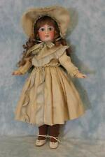 "18"" Closed Mouth Sonneberg 136 German Bisque Character Child Doll French Look!"