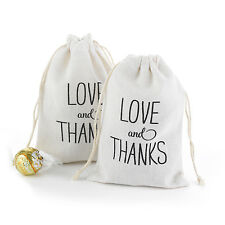 25 Love And Thanks Design Large Cotton Favor Bags Wedding Favor Bags