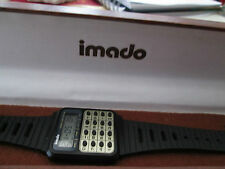 vintage rare imado lcd calculator watch in box,,,,running