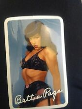 BETTIE PAGE BLUE LINGERIE STICKER by Bunny Yeager