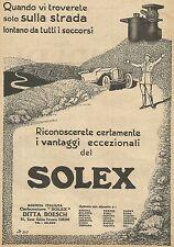 Y0475 Carburatore SOLEX - Pubblicità d'epoca - Advertising