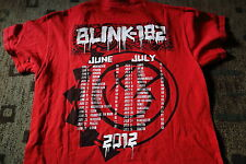 BLINK 1982 original 2012 t-shirt  with tour dates beautiful size M Red PUNK NOFX