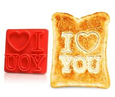 I LOVE YOU Toast Message Heart Stamp Fun Valentines Birthday Anniversary Gift