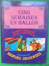 CINQ SEMAINES EN BALLON JULES VERNE ILLUSTRE EN BANDES DESSINEES