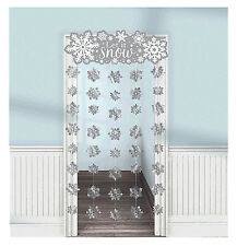 Let it Snow Snowflakes Holiday Party Door Curtain Decorations Favor Supplies