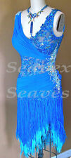 U3497 women ballroom chacha Latin Rhythm samba salsa dance dress fringing US 8