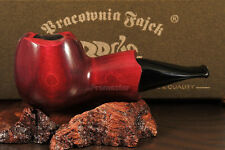 "Mr. Brog HAND MADE  WOODEN  SMOKING PIPE  no 52  "" Scoot ""   Red  + Filter"