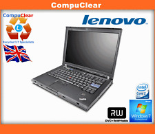 "LENOVO THINKPAD T61 14"" LAPTOP CORE 2 DUO 1.8GHz 3GB RAM 80Gb WIN 7 PRO"
