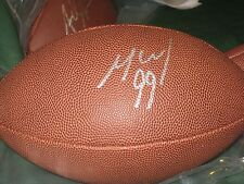 MICHAEL MCCRARY AUTO FULL SIZE FOOTBALL SB 35 CHAMPS BALTIMORE RAVENS PRO BOWL