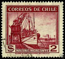 CHILE, MERCHANT MARINE, NICE ENGRAVED STAMP
