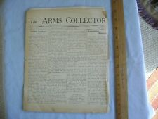 The Arms Collector. 1938 American Arms Collectors Association Newsletter.