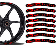 8 OZ RACING FELGENRANDAUFKLEBER AUFKLEBER AUTO MOTO GP MOTORRAD RIM STICKERS R9