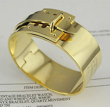 GOLD Top Grade Collier de Chien stainless steel bracelet cuff bangle gold silver