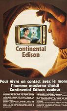 Publicité 1970  Téléviseur Continental Edison couleur