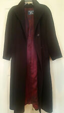 Burberry's Cashmere and Wool Mid Calf Coat with Silk Lining